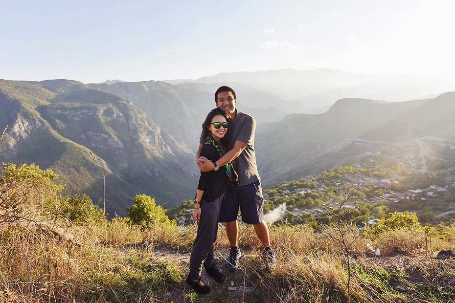 Charine Tan and Matthew Horkey in Armenia
